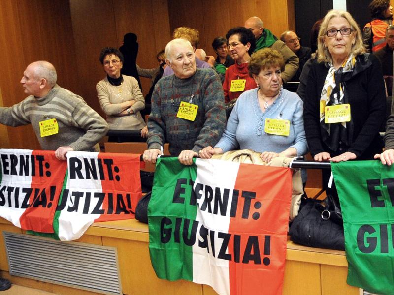 Pubblico presso processo Etrnit a Torino
