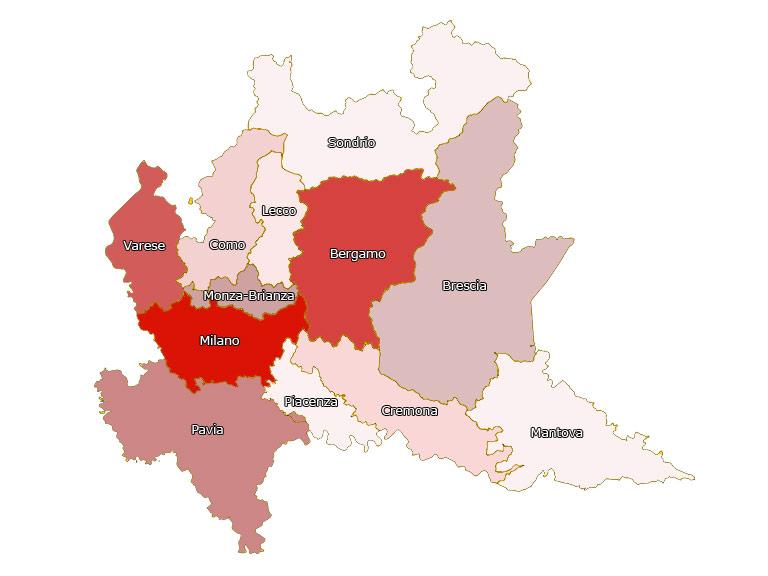 Cartina Regione Lombardia