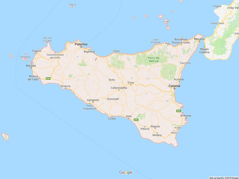 Sicilia Google Maps