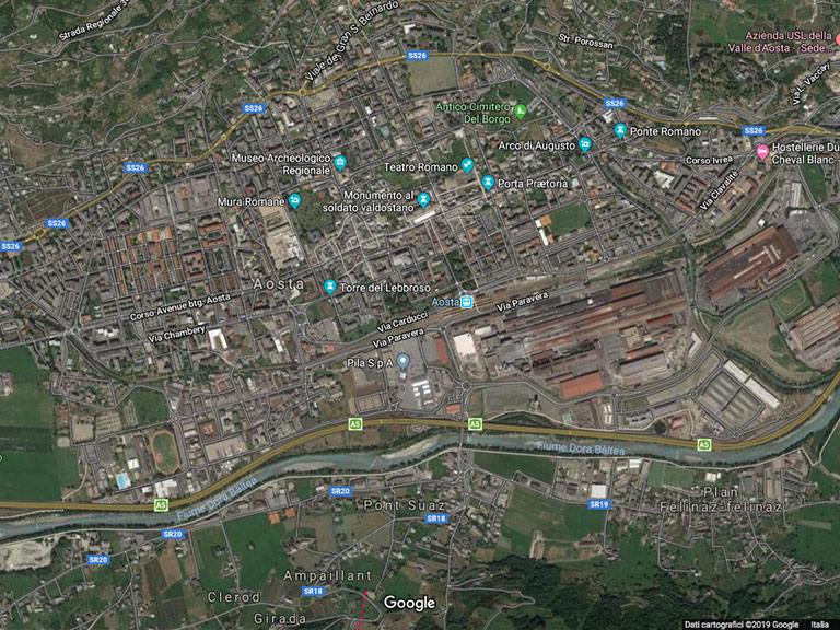 Aosta Google Maps Italia