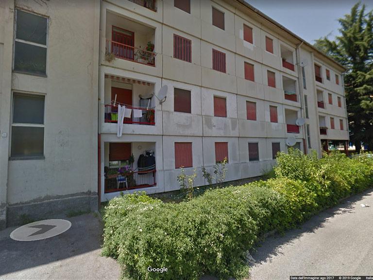 Prefabbricato post sisma di via Collodi ad Avellino da Google Maps