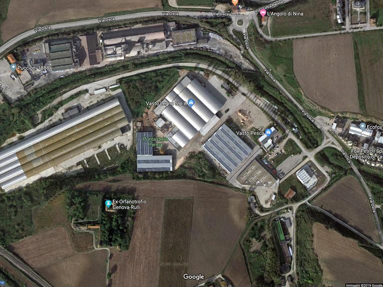 Punta Penne Area Industriale nel Parco naturale Google Maps