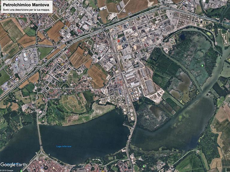 Petrolchimico di Mantova - Google Earth