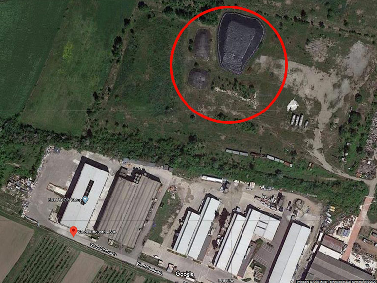 Deposito di macerie con RCA presso Bianchini Srl San Felice sul Panaro