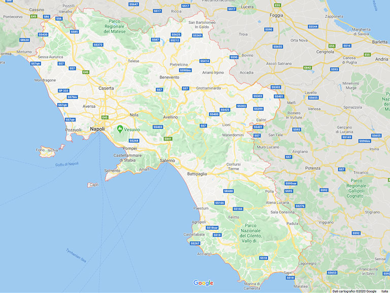 Google Map Campania