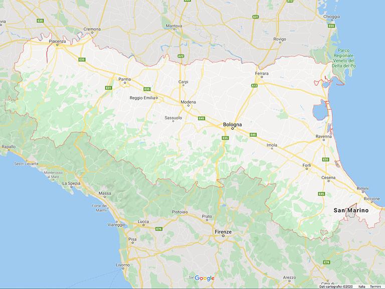 Emilia Romagna Google Map