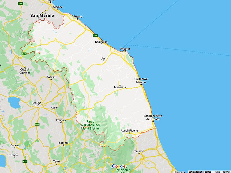 Google Map Marche