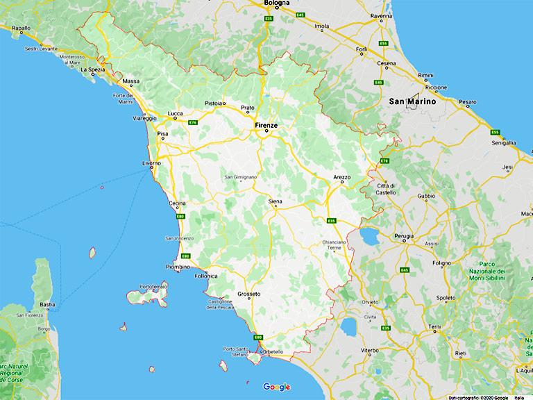 Google Map Toscana